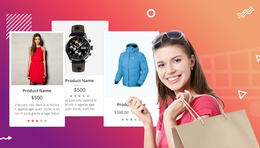 Ecommerce Grid is a Multipurpose Product Showcase HTML Widget